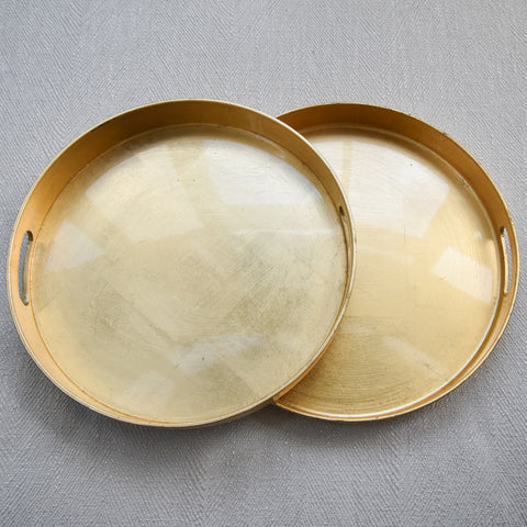 Laque Round Gold Tray, 2 Sizes