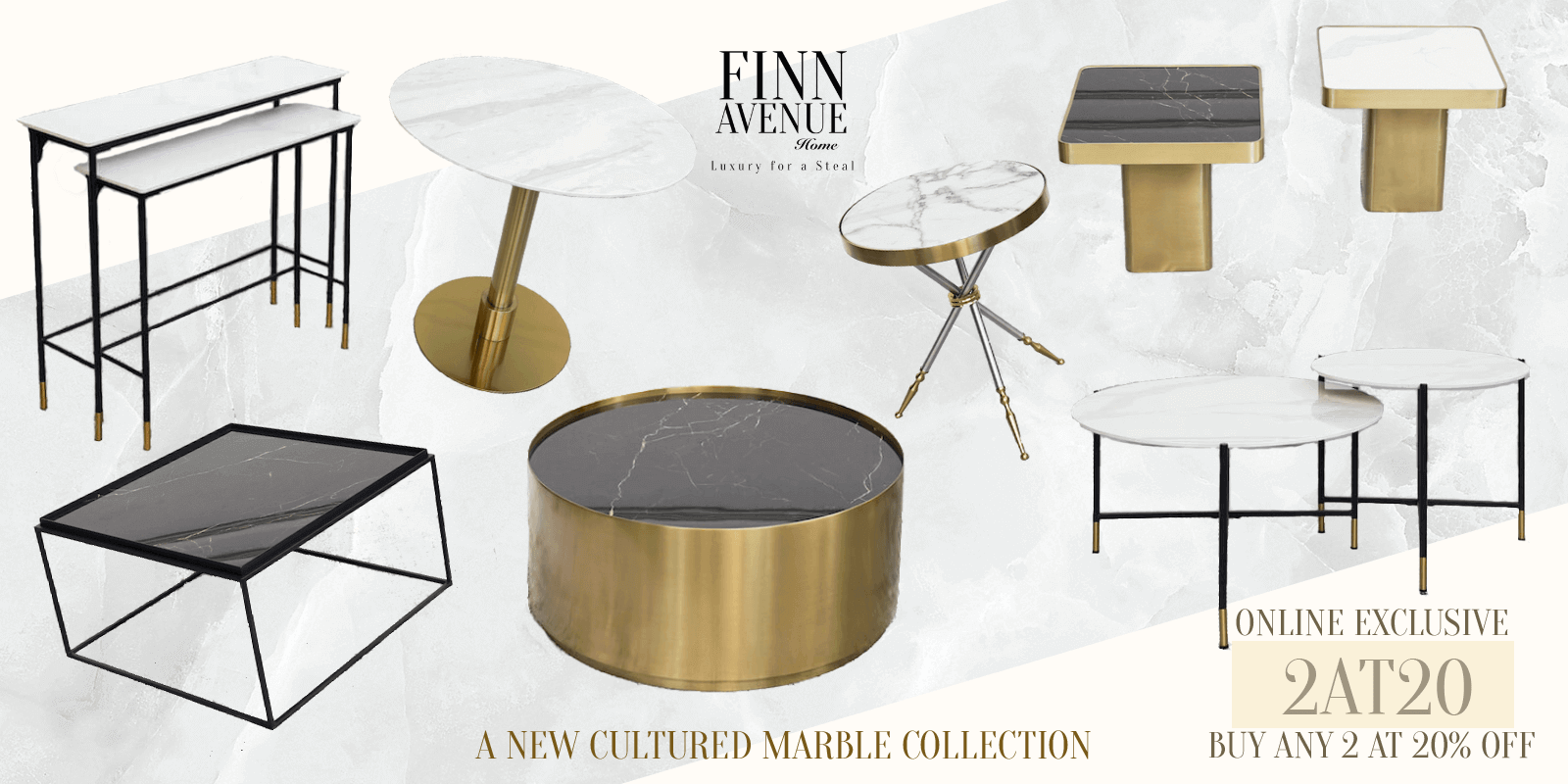 Covid-19 Recession Sale on New Marble Table Discount Code Promotion