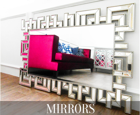 Mirrors for dressers and home decoration displayed here in Singapore showroom are so beautiful, unique and affordable.