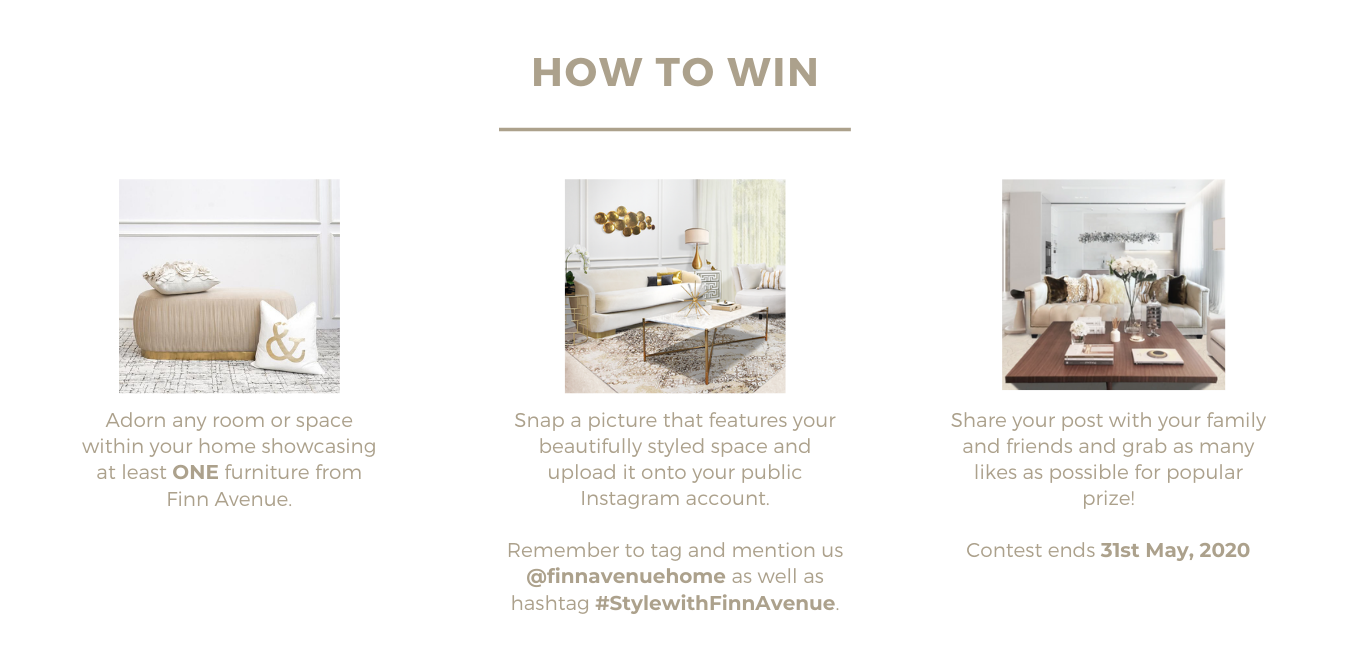 Online Styling Contest How to Win Furniture Voucher