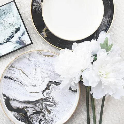 online decor, luxury decor, marble round tray