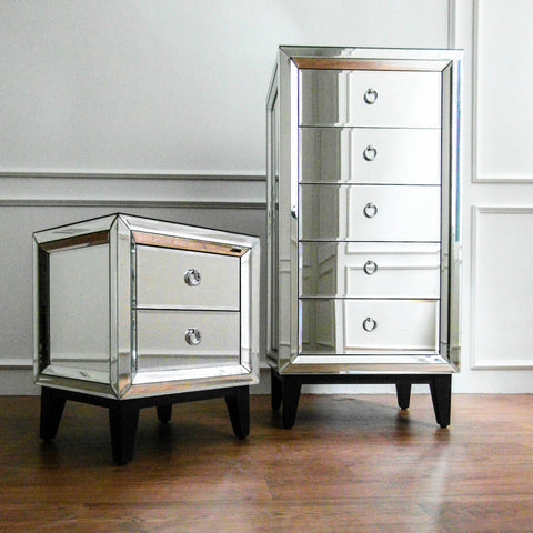 Etienne Mirrored Chest of Drawers