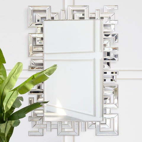 Greek Symmetry Handcarved Wall Mirror