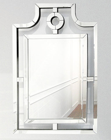 Wall mirror with simple lines that is perfect as a dresser mirror or decorating living room space