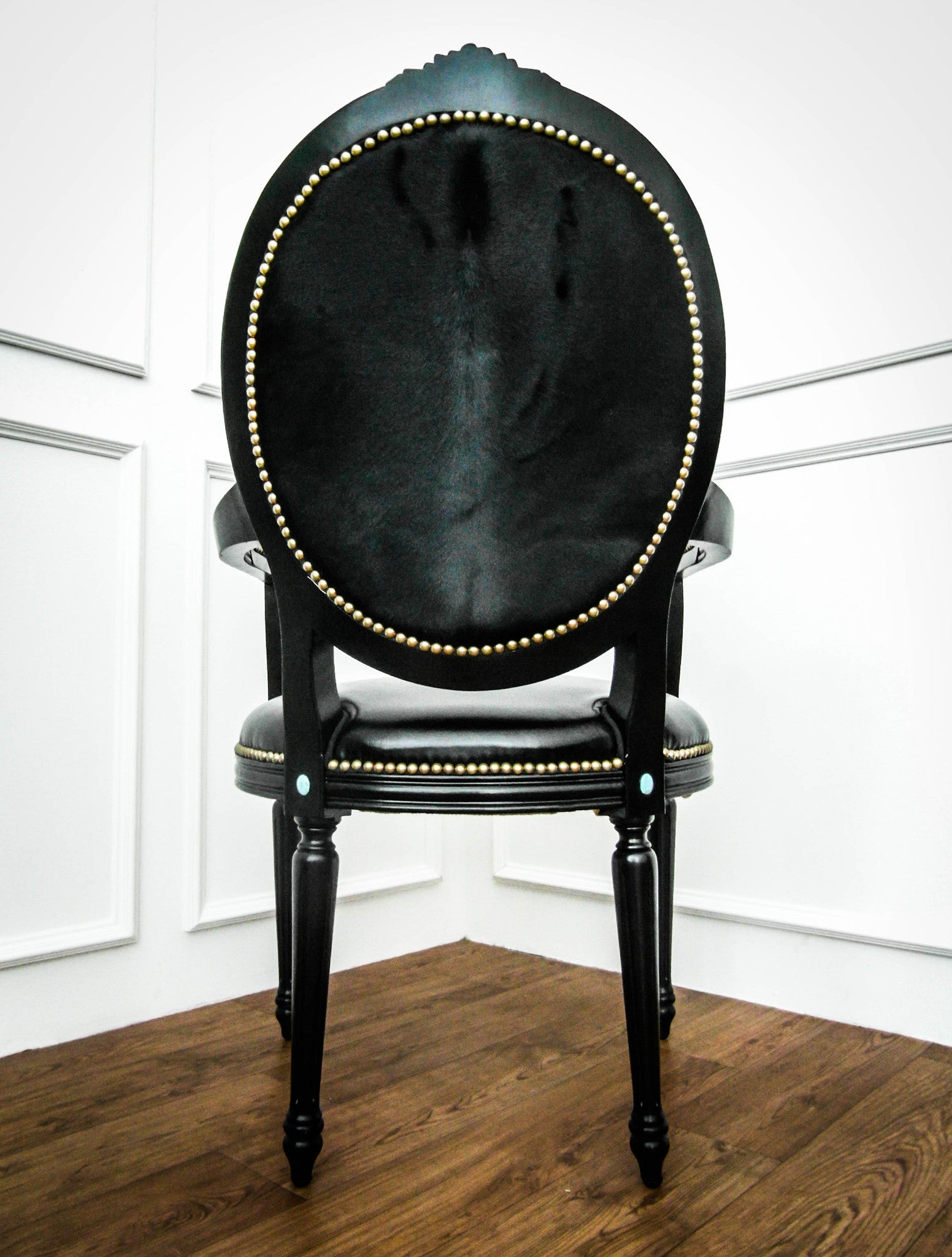 French King Louis XVI Armchair Black FINN AVENUE