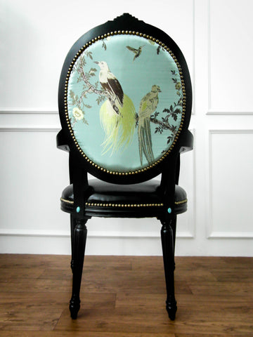 embroidered fabric dining chair