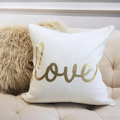 Gold Love Cushion from Christmas Luxe Collection 2017