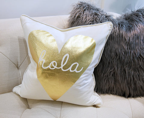 Gold Heart Cushion from Christmas Luxe Collection 2017