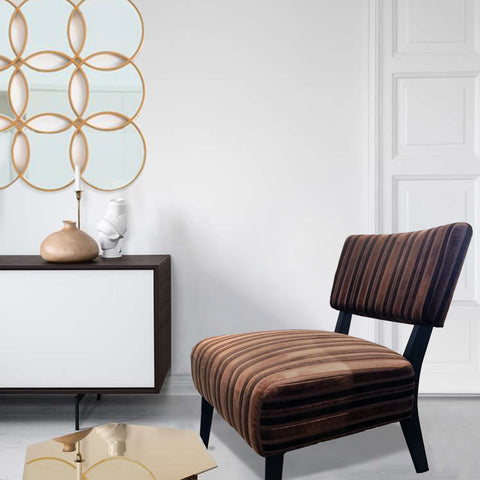 Breton Striped Accent Chair