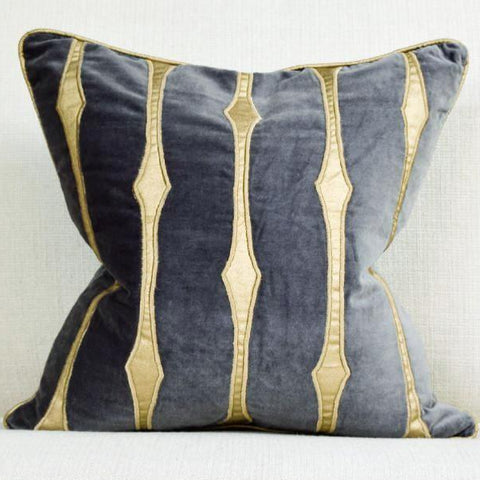 Candice Olson Gold Black Stardust Cushion displayed At Finn Avenue Home & Decor Showroom in Singapore