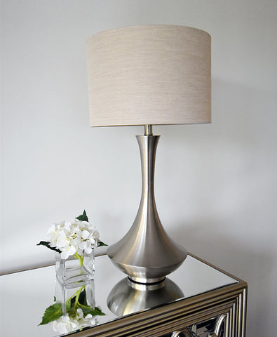 Antoine Metal Lamp in Steel Finish