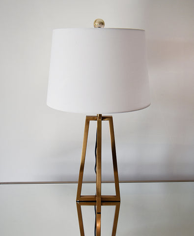 Le Abstract Gold Metal Table Lamp