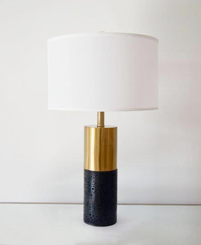 Pantheon Black Marble Table Lamp
