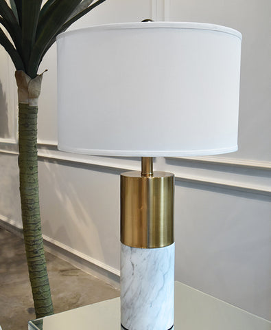 Pantheon White Marble Table Lamp