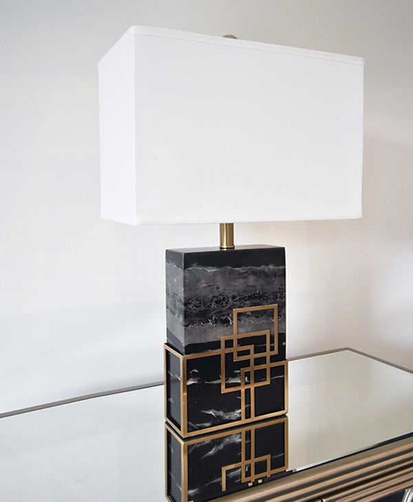 Table lamps online home decor finnavenue finn avenue marquis black marble gold accent table lamp mozeypictures Image collections