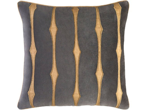 Candice Olson Collection: Black-Stardust Cotton Velvet Down Feather Cushion