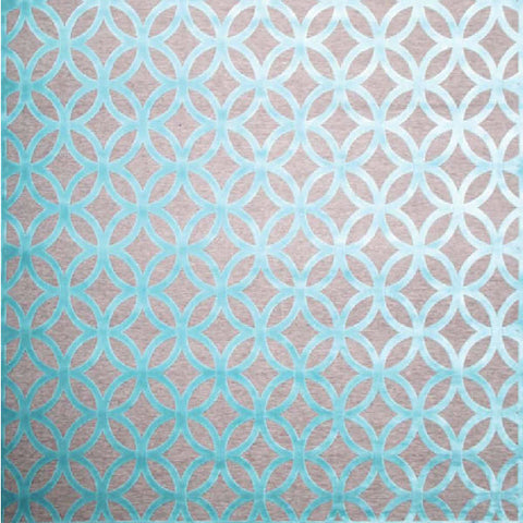Modern Tessellation Turquoise Rug, in 2 Sizes, made in Turkey