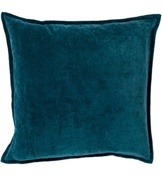 Teal Velvet Down Feather Cushion