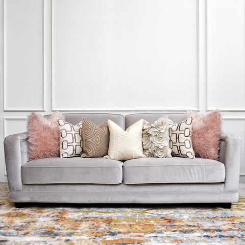 Best Quality Sofa Singapore Light Grey Velvet