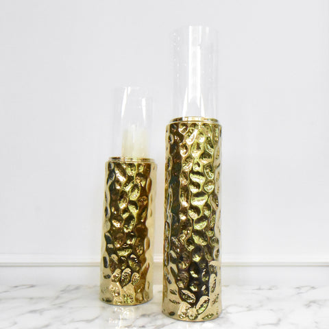 Allegra-Gold Candlelight Holder, 2 Sizes