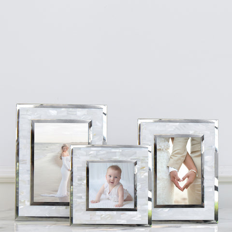 Anais Mother-of-Pearl Photo Frame, 3 sizes