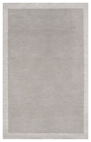 Angelo Surmelis Designer Rug Collection: Hand Loomed Gray-Ivory Wool Rug