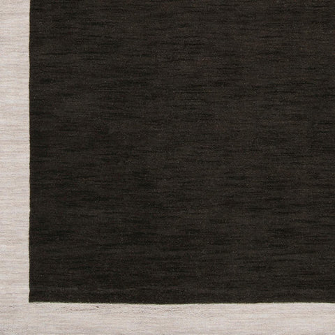 Angelo Surmelis Designer Collection: Hand Loomed Black-Silver Wool Rug