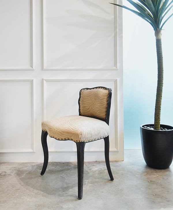 designer black accent chair in king louis style