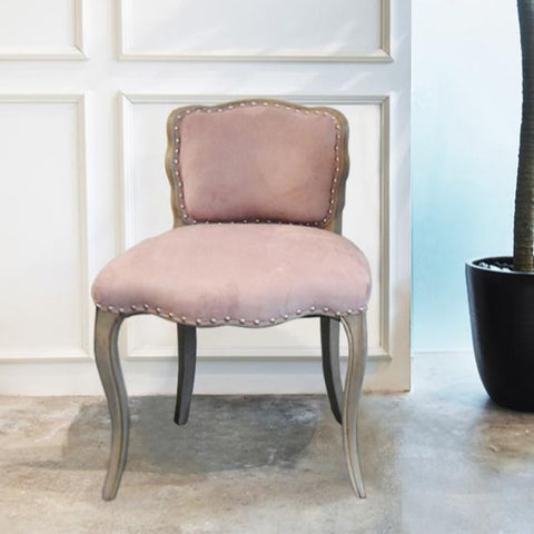 Arte Gala Light Pink Velvet Dresser Accent Chair