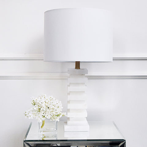 Table lamp - Marble stacked lamp
