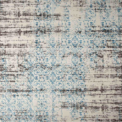 Turkish Beige Blue Silk Rug, 200cm by 290cm