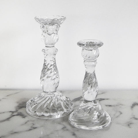 Candle Holders and Candlestick Holders in Glass and Crystal.