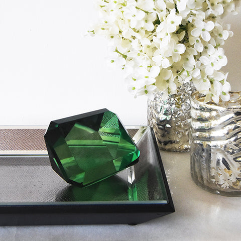 Emerald green jewel decor piece