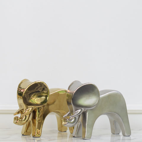 Baby Animal Art Sculpture Decor, Elephant