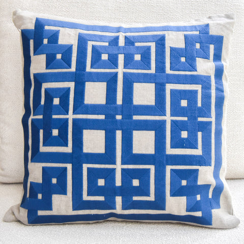 Beth lacefield Blue Cushion