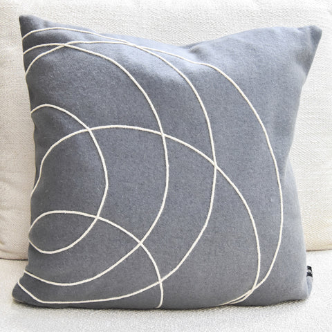Bobby Berk Solid Bold Grey Cushion