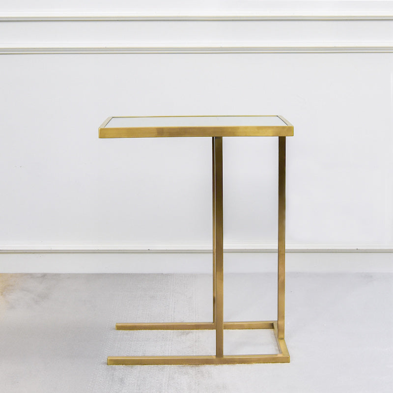 Butler C Shaped End Table Gold