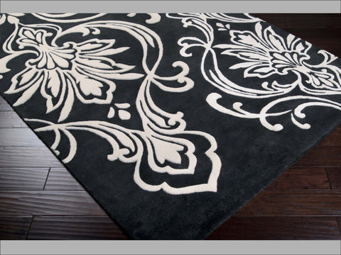 Candice Olson Designer Collection: Modern Classics ~ Floret Black Rug