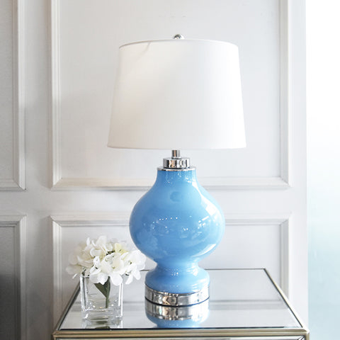 Coralie Pastel Blue Glass Table Lamp