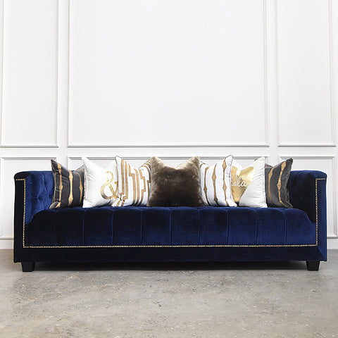 Countess II Blue Chesterfield Sofa
