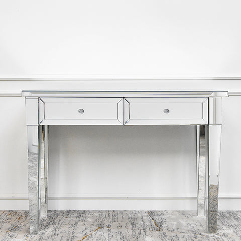 French Mirrored Sideboard Dressing Table - 2 Drawer Console Table