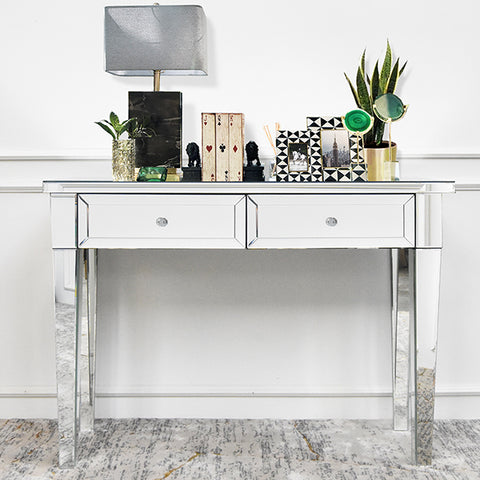 Cristal Mirrored Console Table