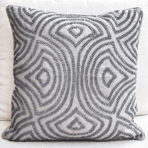 Candice Olson Cushion: Grey Linen Down Feather Cushion