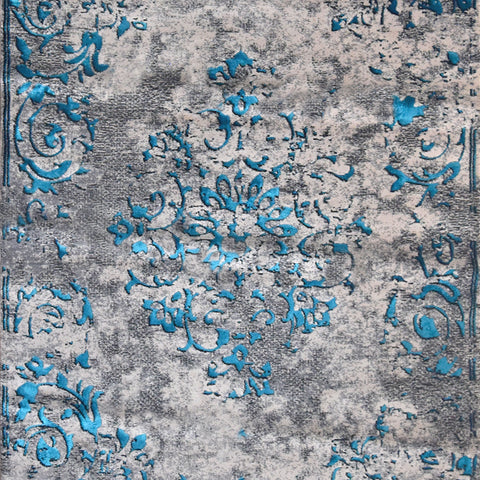 Chamaecy Medallion Blue Hues Rug, in 2 Sizes