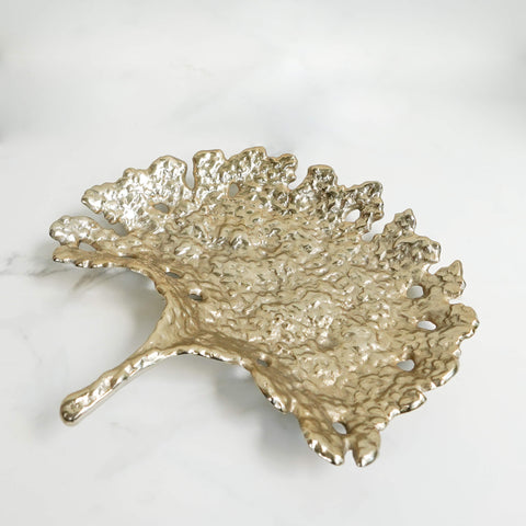 Chambran Gold Leaf Sculpture Textured Tray