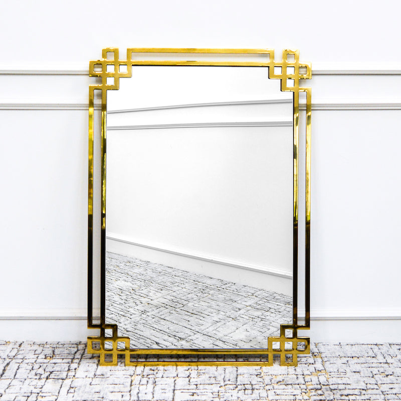 Christophe Gold Greek Wall Mirror
