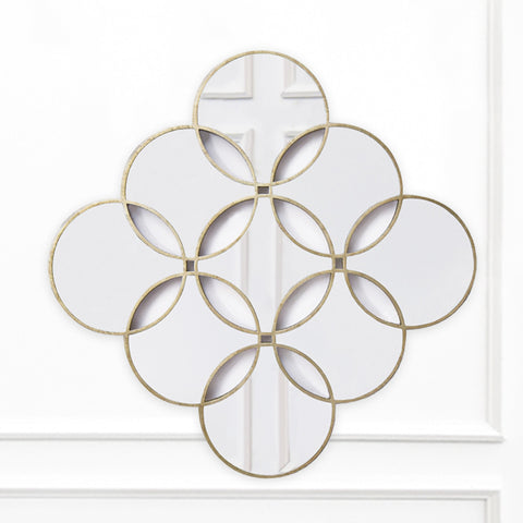 Diamond-shaped wall mirror