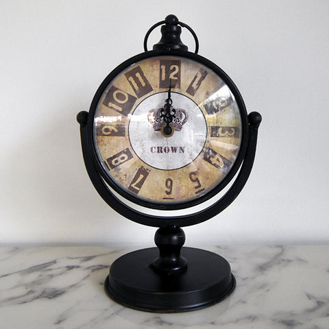 Vintage desk clock adds as accented sculptures that are great as table art and bookshelf decor.