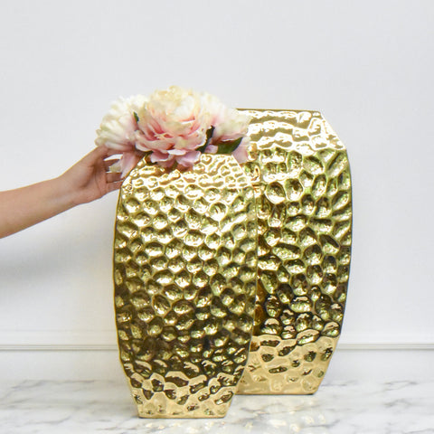 Como Gold Angular Vase, 2 sizes