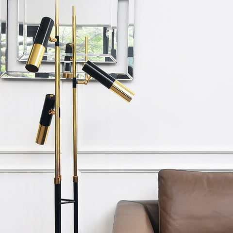 Tom Ike Gold Black Metal Floor Lamp
